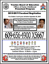 Hotline Summer Preschool Registration for 2018-19