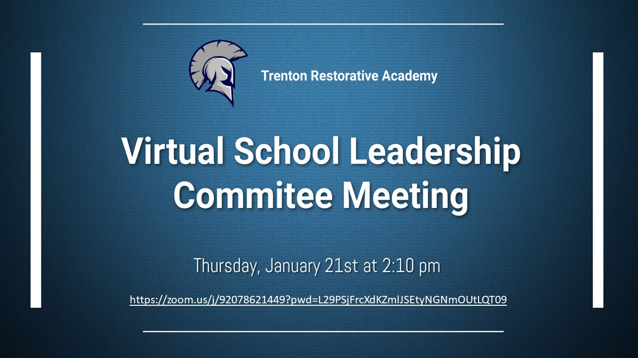 TRA Virtual School Committee Meeting - Click Link for Details and Zoom Link
