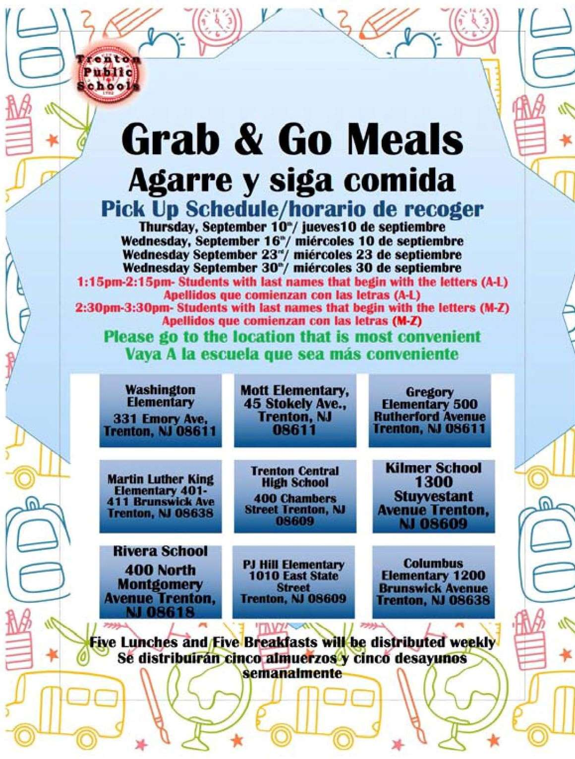 Grab and Go Meal Dates