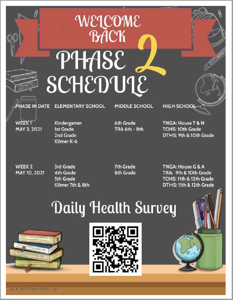 Phase 2 Reopening Schedule