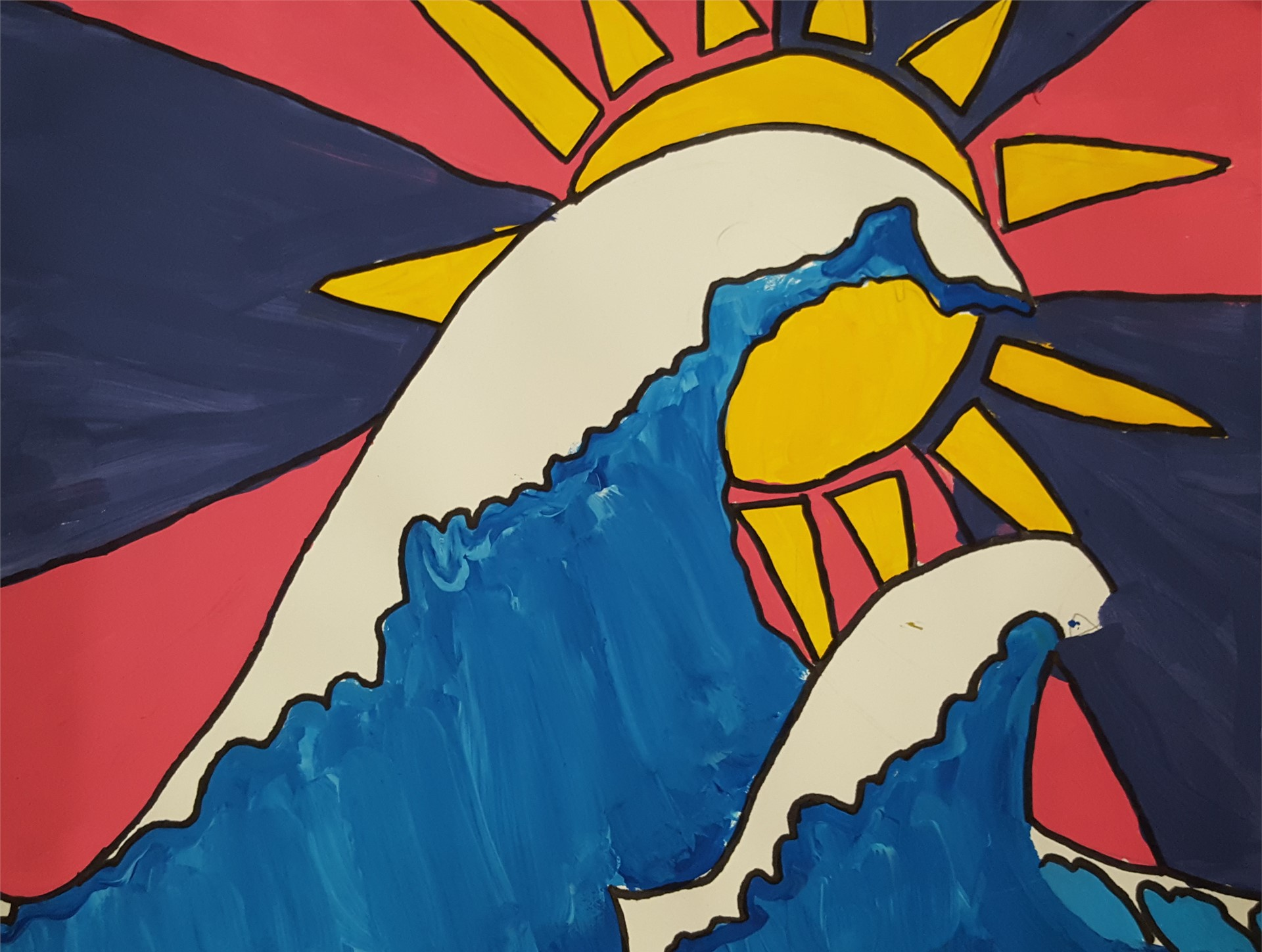 Great Wave Painting