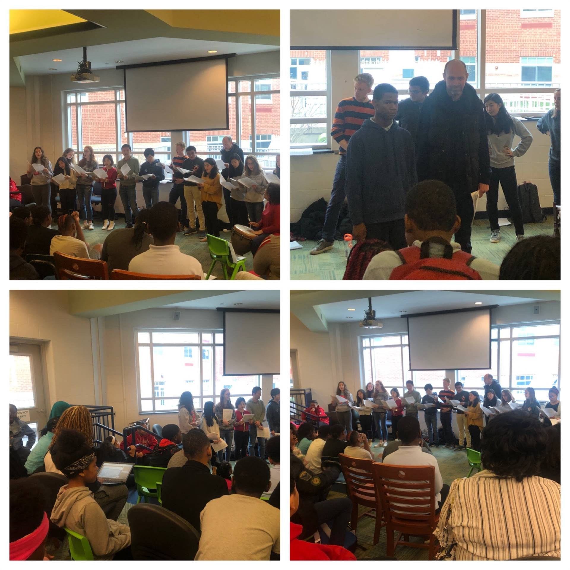 Princeton University Choir performed for students in the Media Center