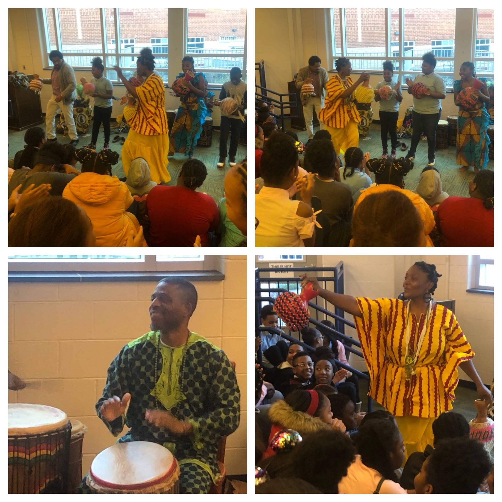 Egun Omode drum group give kwanzaa performance
