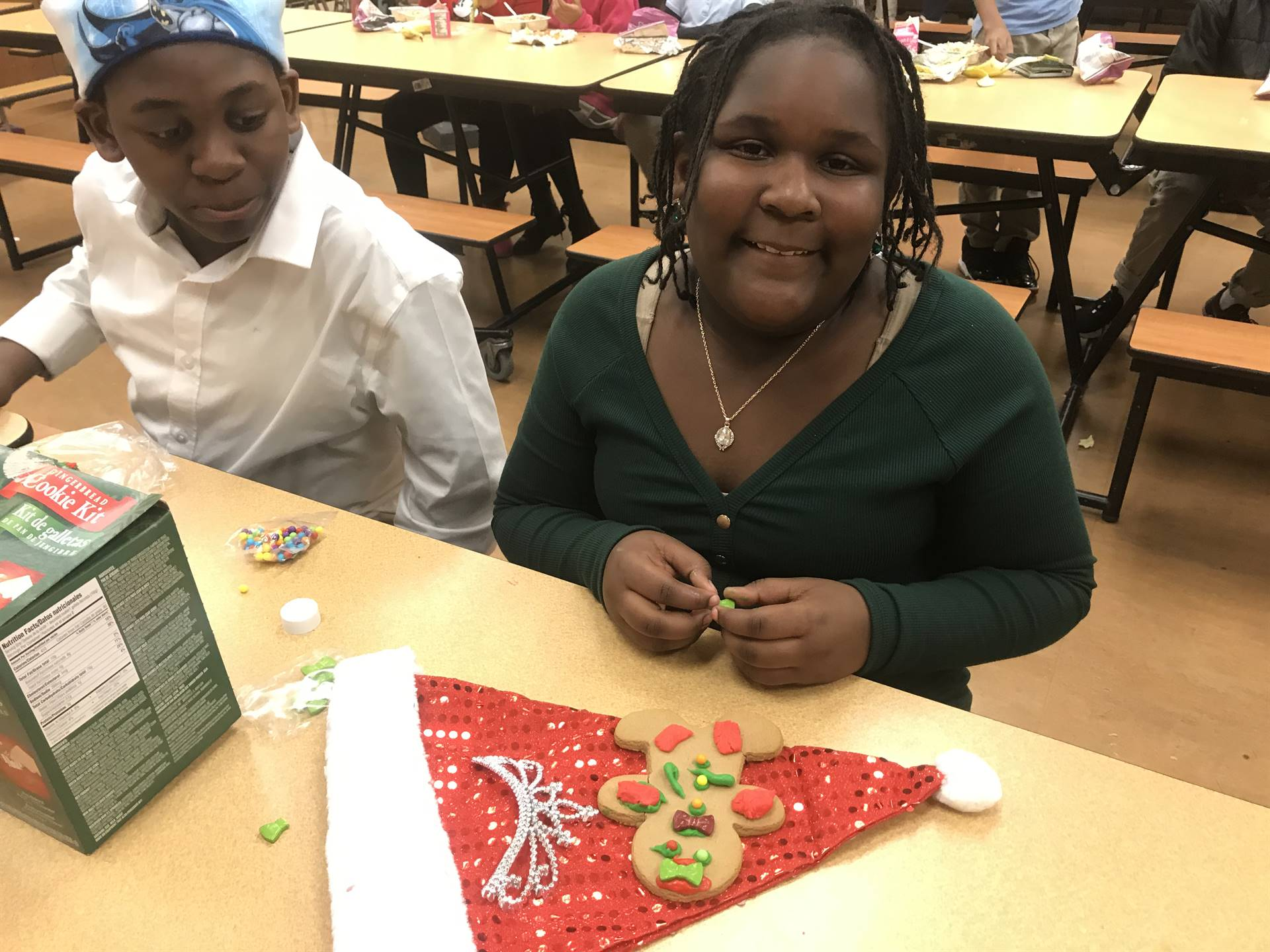 Chorus decorating gingerbread men