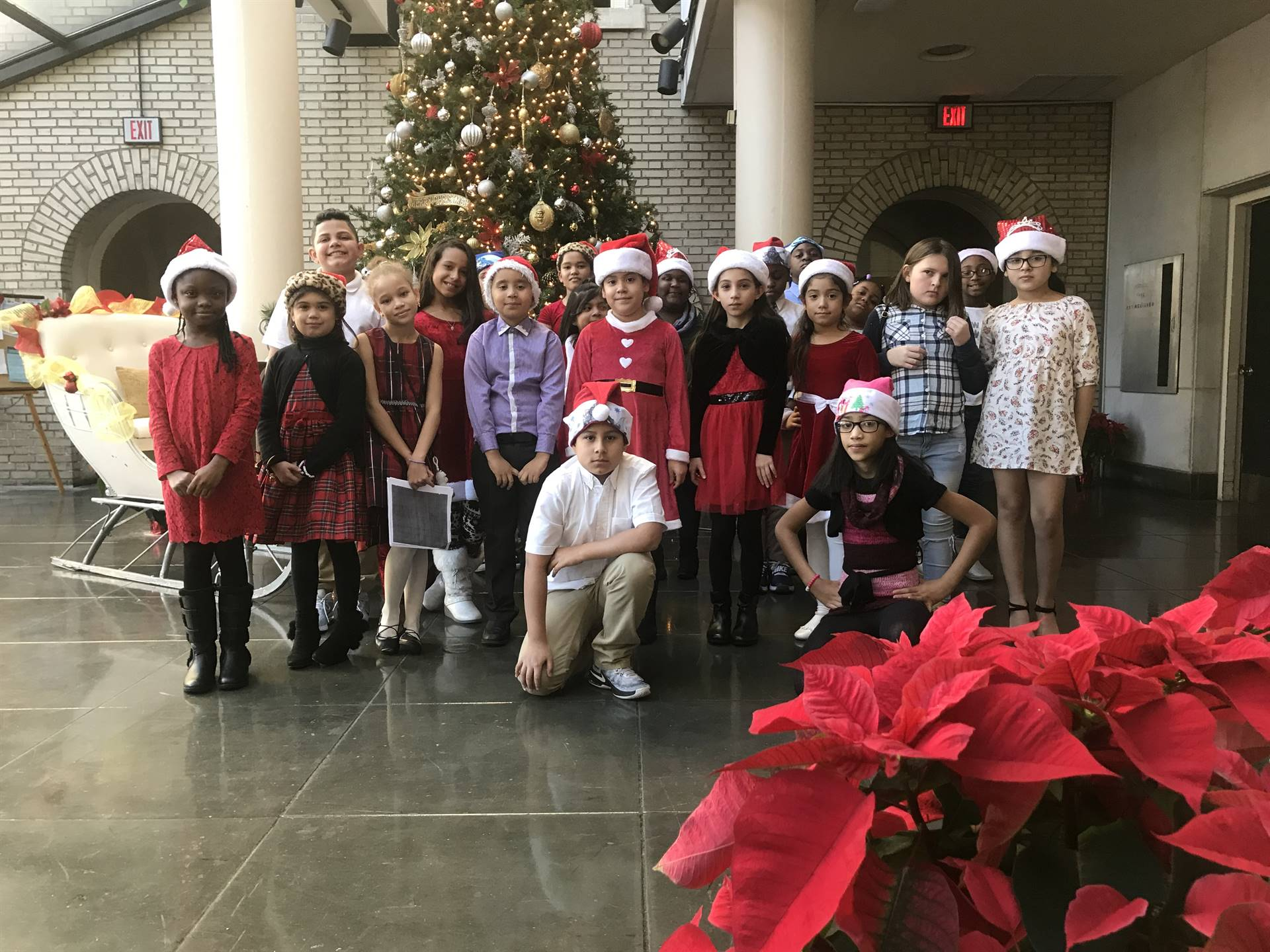 Mott Choir performs at Trenton City Hall