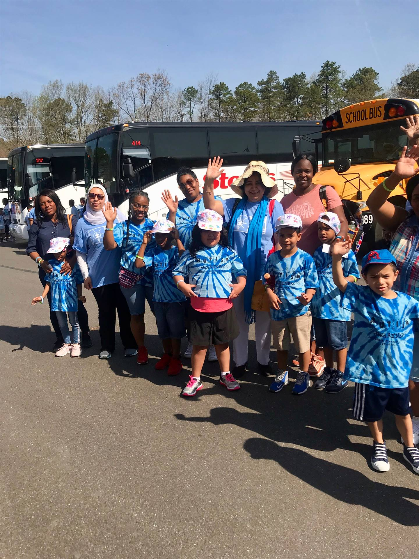 TPS Students Celebrate Autism Awareness Day at Six Flags