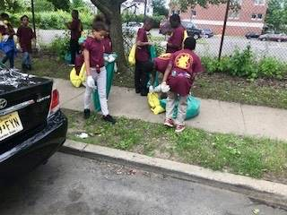 06-06-18 Gregory School Students at the 31st Annual Clean Communities Litter March!