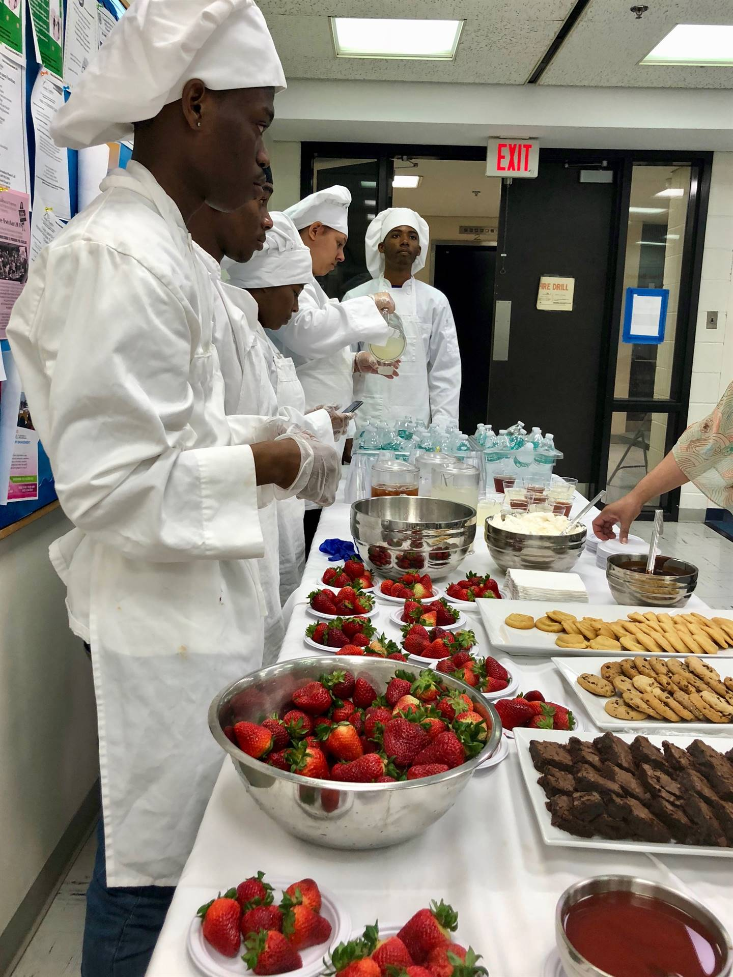 05-10-18 Daylight Twilight Culinary Arts' Students Serve Lunch at the Central Administration Buildin