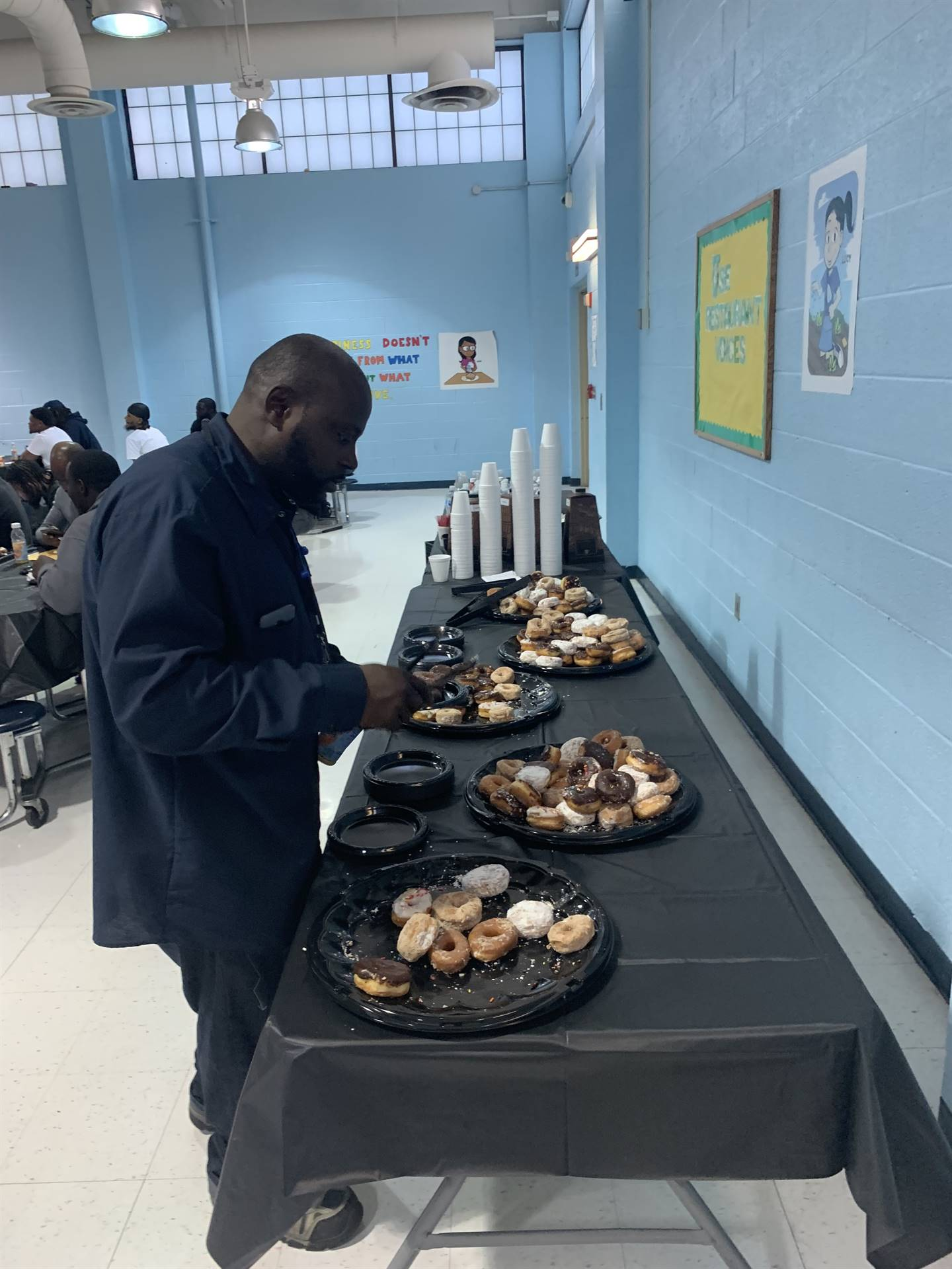 Donuts for Dads at Gregory School