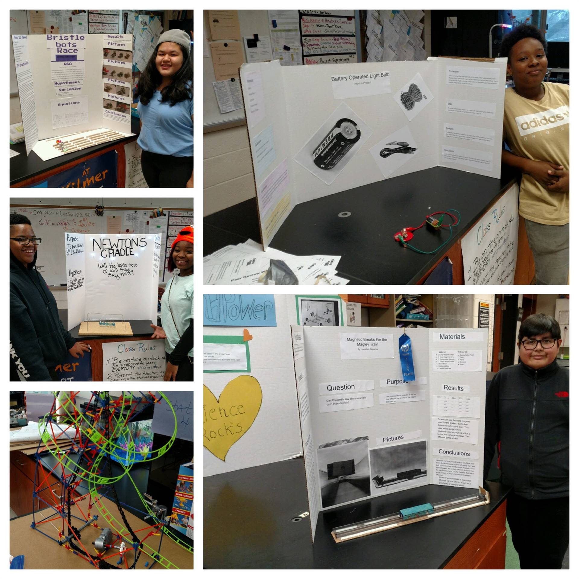 Mrs Migliss' 8th Grade science classes (STEM projects)