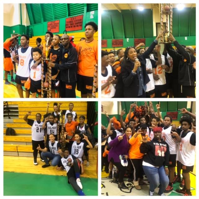 Kilmer MS  Boys And Kilmer Girls Basketball Teams (undefeated this season) both are the district cha