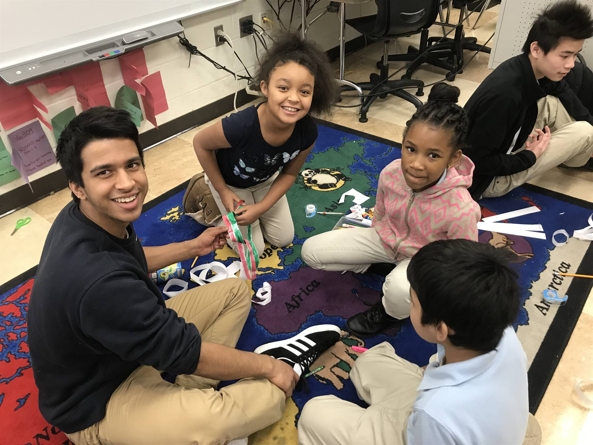 Lawrenceville Students help out at MLK Service Day