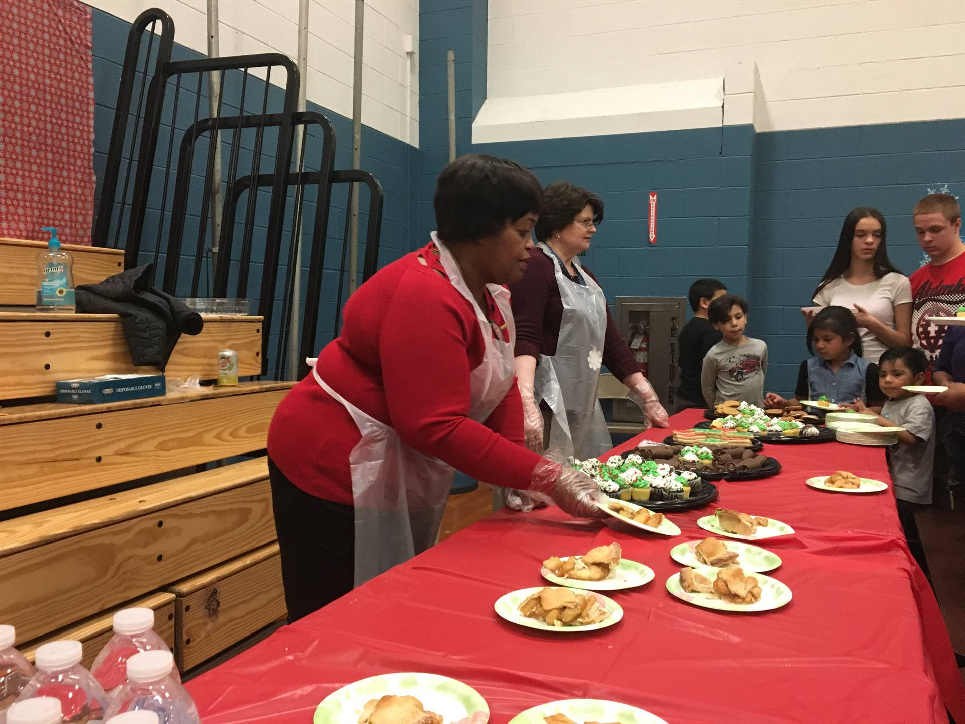 Helping out at the Holiday dinner