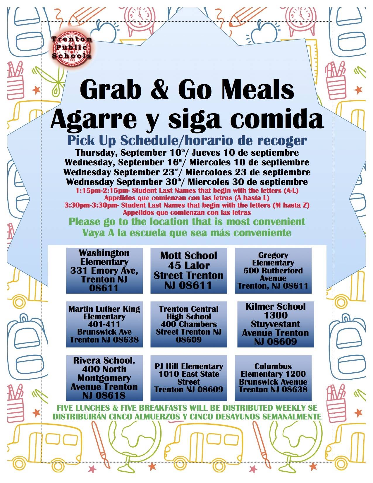 Grab and Go Locations