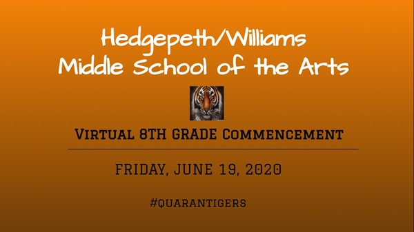 Virtual 8th Grade Commencement 2020