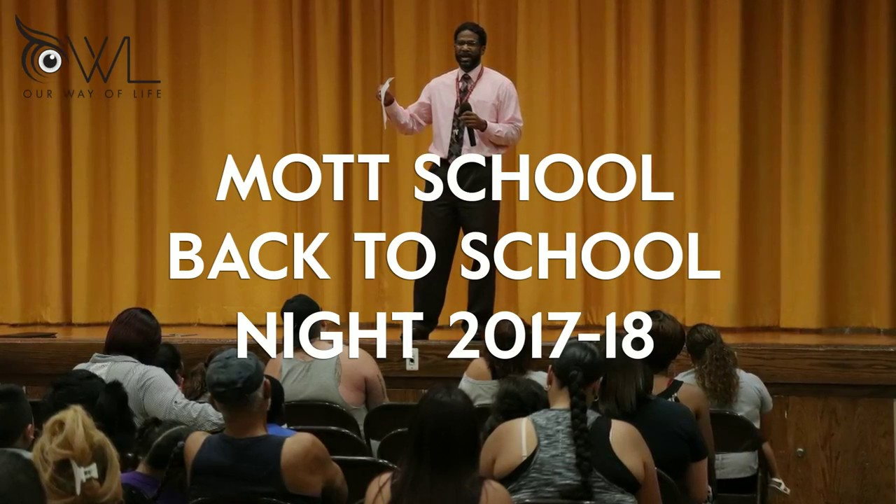 YouTube Video of Back to School Night at Mott